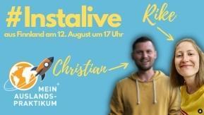 Christian und Rike auf einem Werbebild für das Instalive