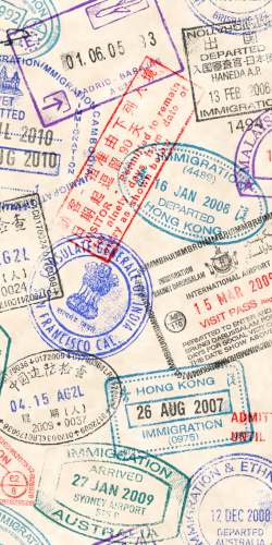 Schmuckbild: Visastempel