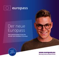Das Deckblatt des Europass-Jugendflyers.