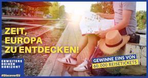 Kampagnenbild von DiscoverEU